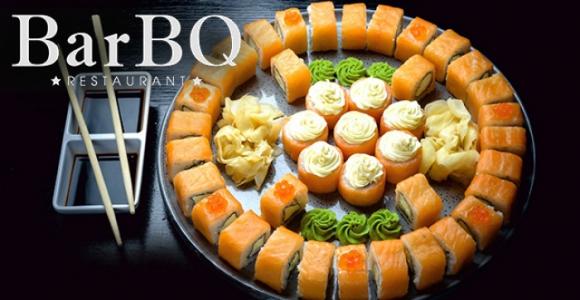Скидка 50% на все сеты в ресторане BarBQ & Cherry