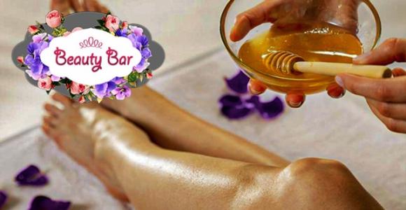 Скидка 50% на шугаринг в салоне красоты Beauty Bar (Заозерный)