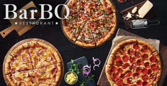 Скидка 50% на все пиццы в ресторане BarBQ & Cherry