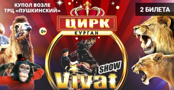 Скидка 50% на два билета на цирковое шоу VIVAT 22 февраля (у Пушкинского)