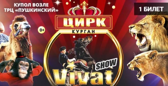 Скидка 50% на билет на любое представление цирка VIVAT (у Пушкинского)