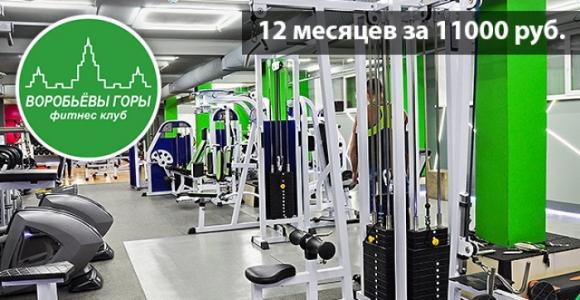 Скидка 7000 рублей на годовой абонемент в ТЗ  ФК Воробьевы горы
