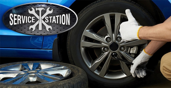 Скидка 50% на переобувку автомобиля в SERVICE STATION 45