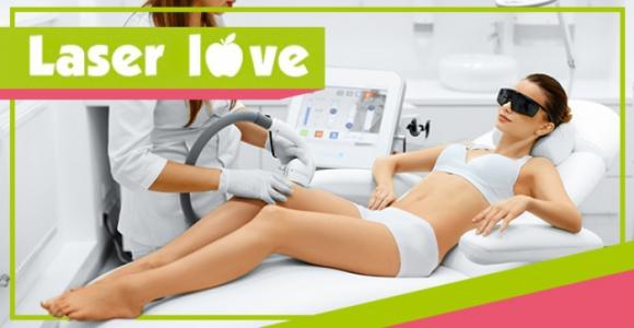 Аппаратное удаление волос  любой зоны за 300 рублей в студии Laser Love