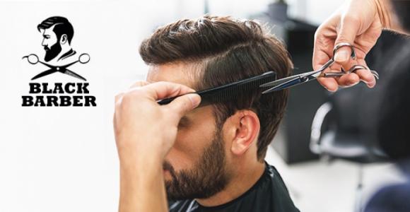 Скидка 50% на мужскую стрижку в мужской парикмахерской Black Barber