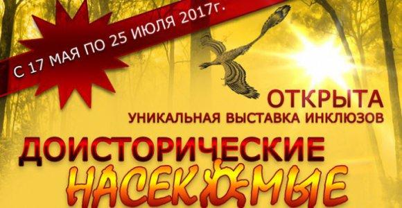 Розыгрыш 2-х билетов на выставку Доисторические насекомые в янтаре!