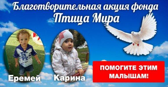 Детям нужна Ваша помощь! Сбор от благотворительного фонда Птица Мира