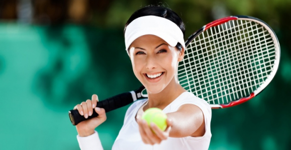 Скидка 50% на аренду открытого теннисного корта в парке