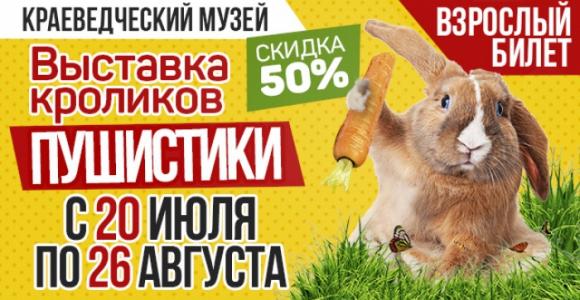 Взрослый билет со скидкой 50% на выставку кроликов