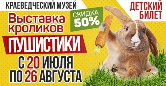 Детский билет со скидкой 50% на выставку кроликов