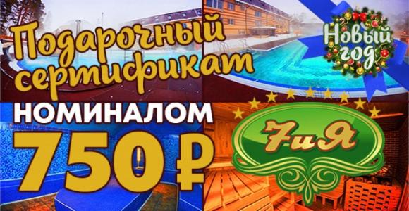 Скидка 50% на сертификат 750 рублей в открытый термальный бассейн