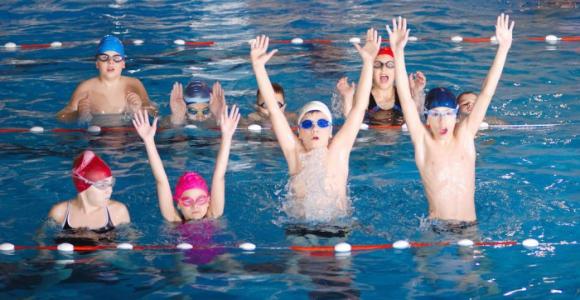 Скидка 57% на 1, 5 или 8 занятий по плаванию для детей в
