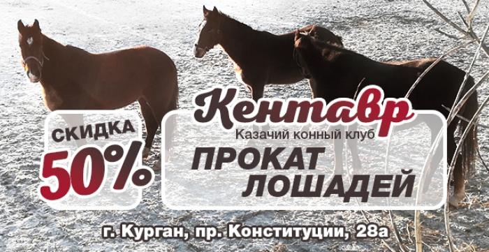 Скидка 50% на прокат лошади в казачьем конном клубе Кентавр (п. Энергетиков)