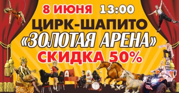 Скидка 50% на билет в цирк-шапито